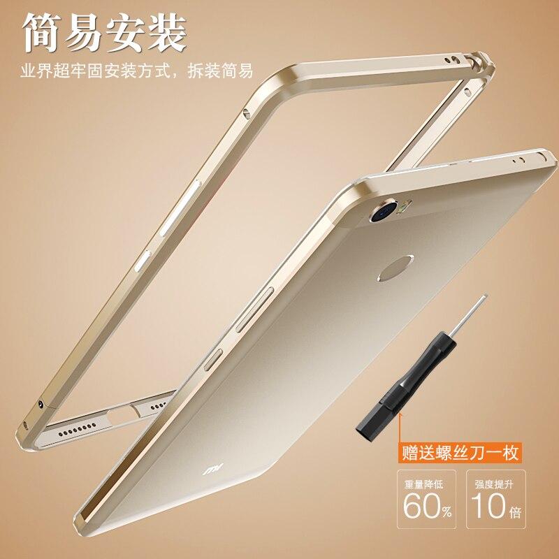 imágenes para Xiaomi mi Max Caso Marco del Metal de Lujo Exquisito Corte De Aluminio Teléfono Original LUPHIE Caso Cubierta de Parachoques Para Xiaomi mi Max casos