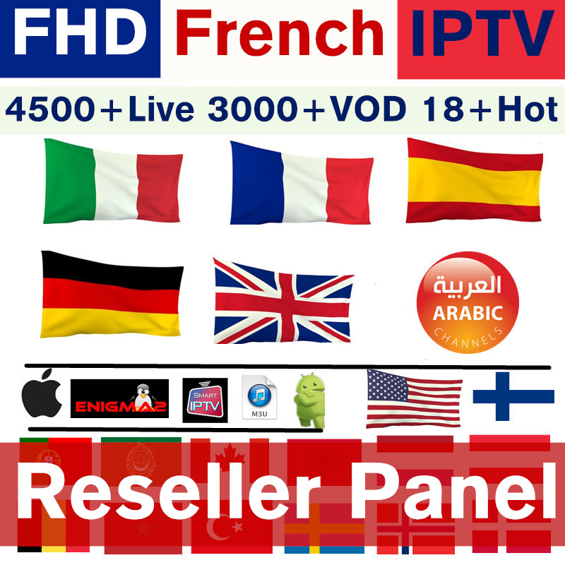 US $24 82 27% OFF|Europe IPTV subscription Vigotv France UK German Arabic  Belgium Poland Canada USA smart TV Box IPTV M3U Reseller Panel-in Set-top