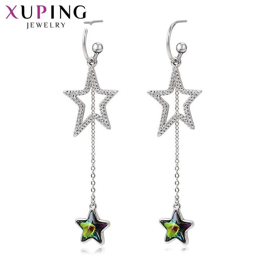 11.11 Xuping étoile forme boucles d'oreilles cristaux colorés de Swarovski romantique élégant bijoux pour dames S164.1-97631