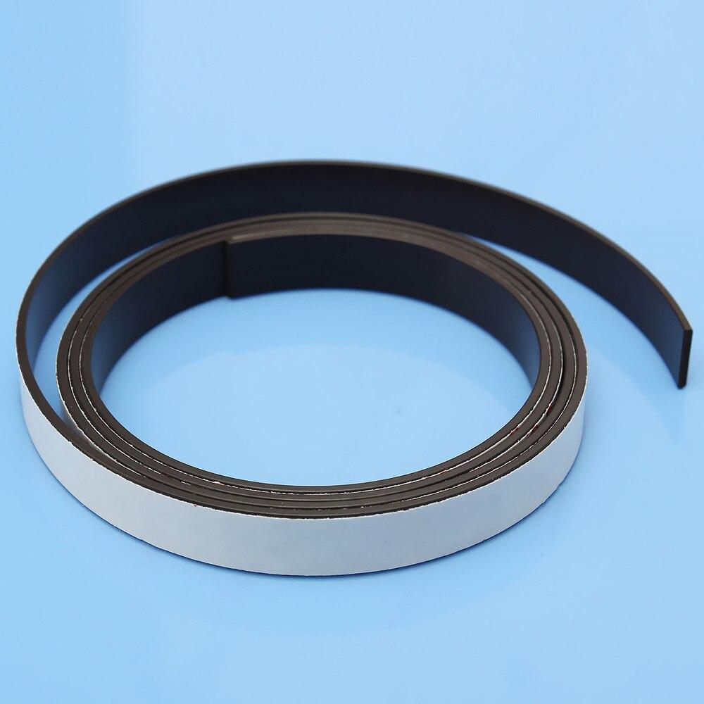 1M Soft Rubber Magnetic Strip Self Adhesive Flexible Magnet DIY Stripe Tape цена и фото