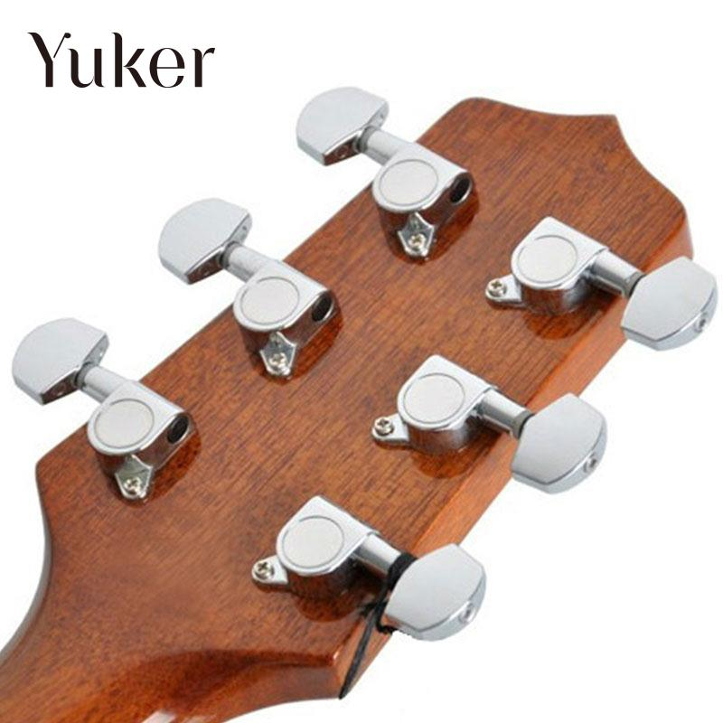 Yuker Guitar 1st 2nd 3rd String Tuning Pegs Machine Heads Headstock Tuner Key Parts sews alice aos 020b1p 2pcs left right classical guitar tuning key plated peg tuner machine head string tuner