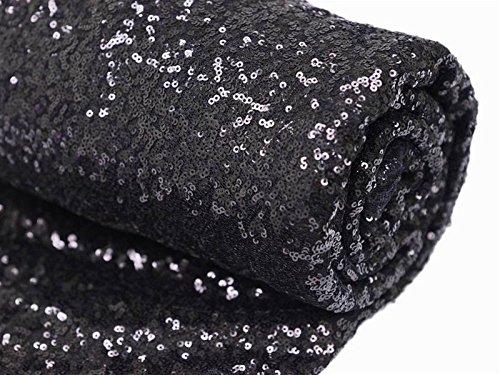 Cloth Sofa Cushions Dubai 1 Yards Black Sequin Fabric, By The Yard, Fabric ...