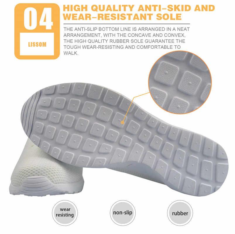 ELVISWORDS/женские пляжные сандалии с 3D принтом; дышащие сетчатые тапочки; Женская Повседневная легкая обувь; zapatos de mujer