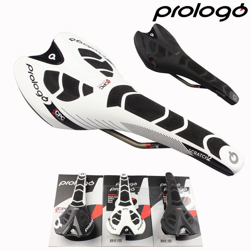 Prologo Original NEW CPC SCRATCH II TiroX RAIL Road Bike Saddle Cycling Carbonfibre Bicycle  Free Shipping|bike saddle|road bike saddle|bicycle saddle - title=