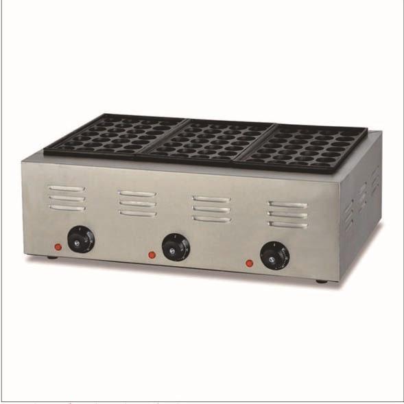 three irons mould electric commerical takoyaki pan, takoyaki grill maker