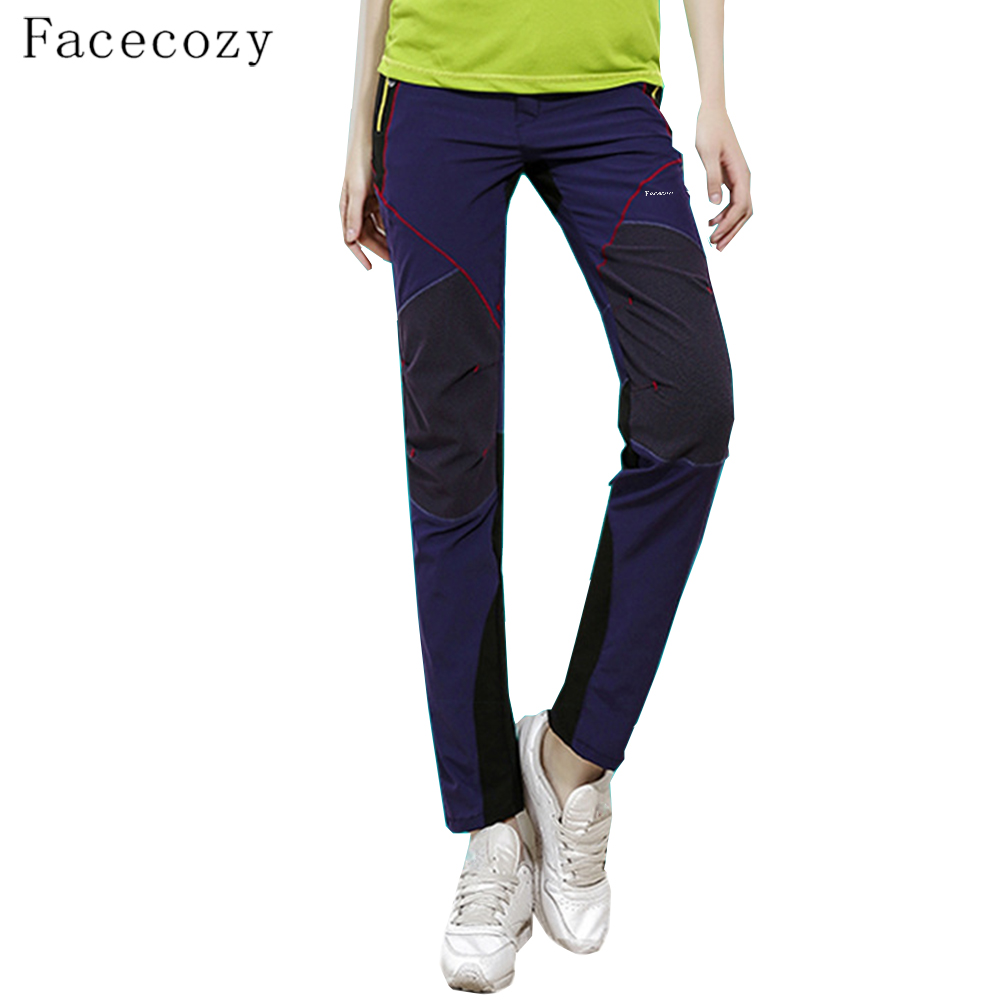 Facecozy Women Summer Super Stretch Quick Dry Pants Thin Breathable Outdoor Hiking Pants Quality Camping Fishing Sports Trousers цена