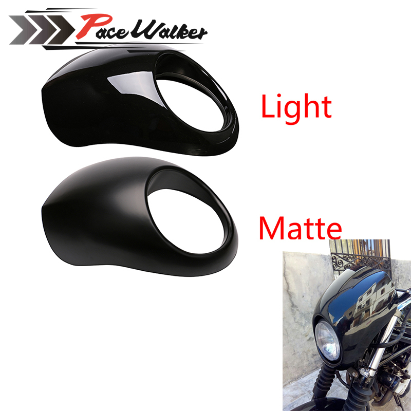 Black Headlight Plastic Front Visor Fairing Cool Mask Bezel For 883 XL1200 Dyna Sportster FX Motorcycle red 5 3 4 motor vehicle headlight fairing bezel mask front visor cowl cover for harley cafe racer sportster dyna xl 883 3757
