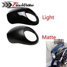 Черный Фар Пластиковая Передняя Козырек Обтекателя Прохладный Маска Рамка Для Harley 883 XL1200 Dyna Sportster FX Мотоцикл