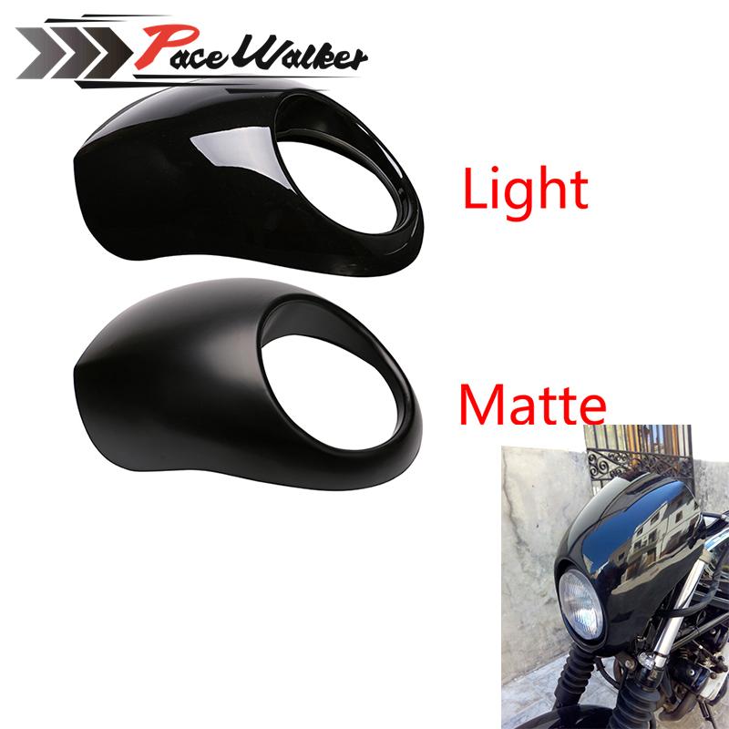 Prix pour Noir Phare En Plastique Visière Avant Carénage Cool Masque Lunette Pour Harley 883 XL1200 Dyna Sportster FX Moto