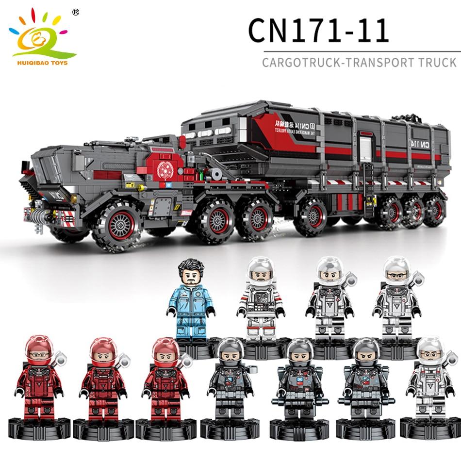 Wandering Earth Super Car Cargotruck Technic Transport Truck Building Blocks Compatible Legoing Technic CN171-11 Bricks Toys