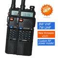 2x baofeng uv-8hx vhf/uhf jamón doble banda walkie talkie de dos vías de radio baofeng uv 5r hermana uv-6r uv-3r + auricular 1/4/8 w fm