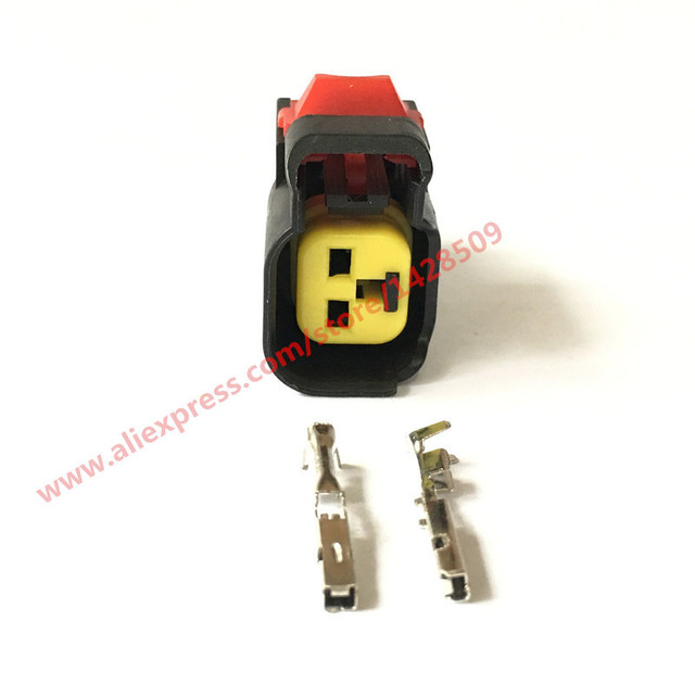 20 Sets 2 Pin Female Electrical Wire Harness Nozzle Horn Auto