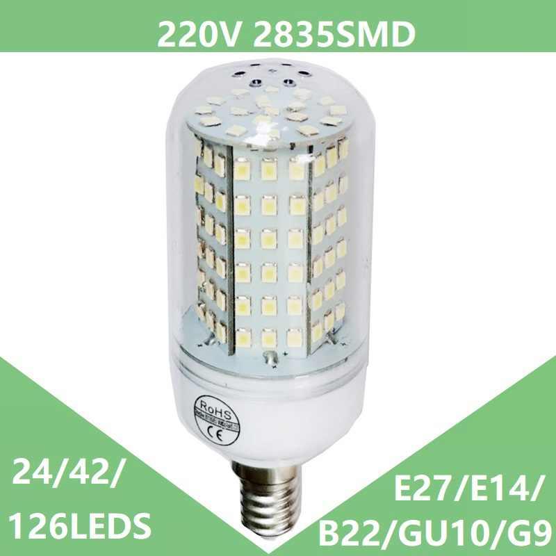 LED Bulb E14 LED Candle Bulb Lamp E27 220V LED Corn Bulb Lighting SMD2835 LED Spotlights Chandelier Bombillas Bulb Cold White