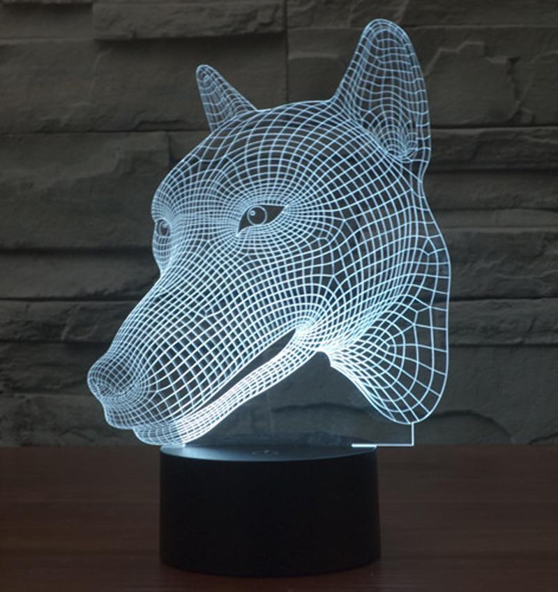 Aliexpress Com Buy Illusion Animal Wolf 3d Led Night