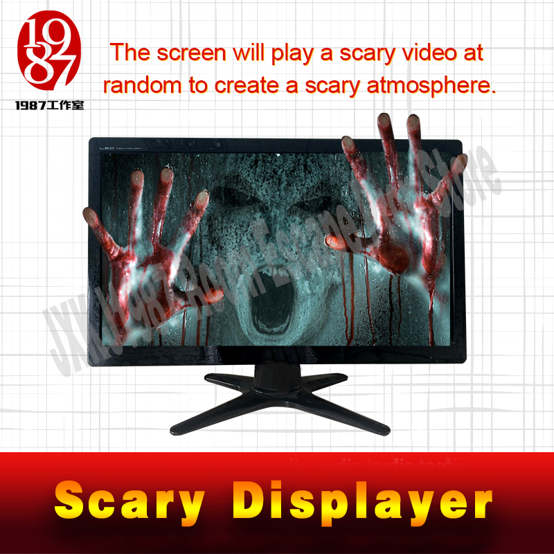 Escape room props scary displayer play a scary video at random to create a scary atmosphere from JXKJ1987 for adventurer game майка print bar scary rabbit