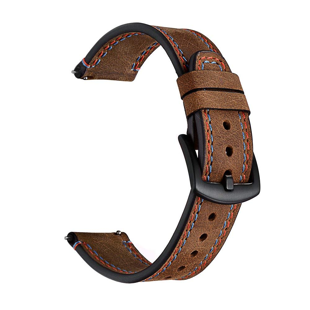 46mm Genuine Leather Strap For <font><b>Samsung</b></font> Galaxy Gear <font><b>S3</b></font> Classic/<font><b>Frontier</b></font> <font><b>Smartwatch</b></font> 22MM Band Replacement Buckle WristBand belt image
