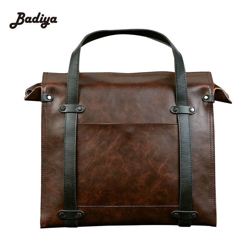 Shoulder Bags Adjustable Strap Travel Bags Hot Sale <font><b>Totes</b></font> Messenger Bags Crazy Horse Leather Briefcase Business Male Bags