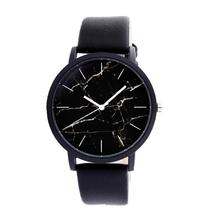 Unisex Women Watches Retro Marble Pattern Watches Quartz Leather Belt Watch Erkek Saatleri Reloj Mujer Wristwatch Mens Clock