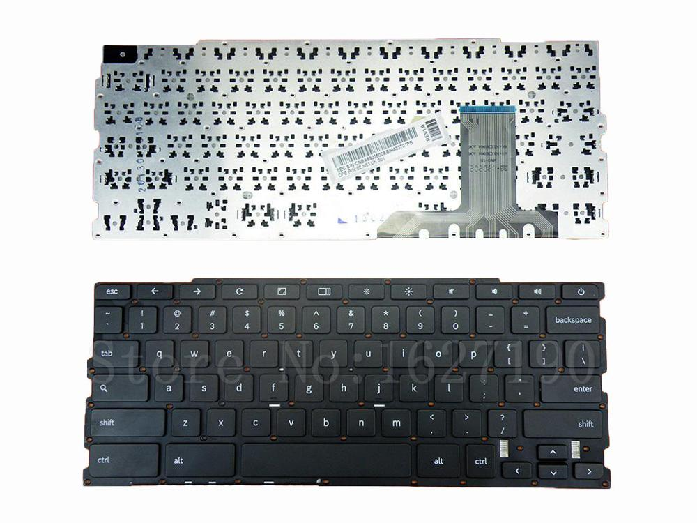 US Keyboard For Samsung Chromebook XE303C12 BLACK Without FRAME Without foil PN:9Z.N8XUN.001 CNBA5903500ABIH433K00OM