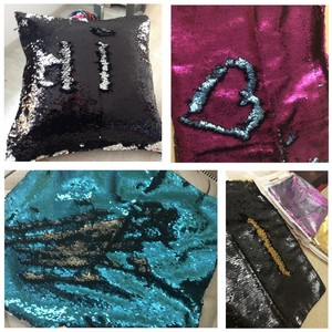 Image 3 - Sequin Pillow Cover Mermaid Sequin Cushion Cover Cushions For Sofas Decorative Cushion Covers Car Seat Cushion