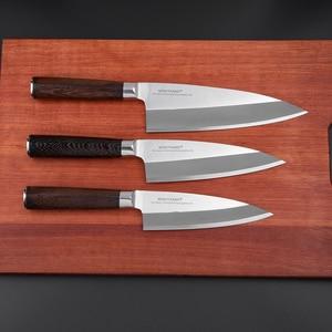 Image 3 - Mokitmanual facas de enchimento de peixe, facas de aço inoxidável deba de alto carbono da alemanha 1.4116 para enfilar sushi salmon