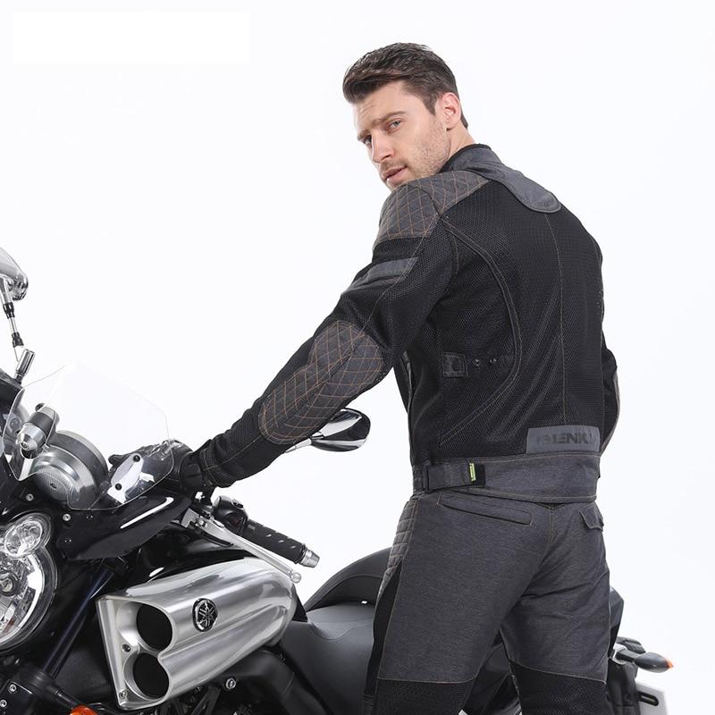 Cyclisme été maille respirante Moto veste style rétro Chaqueta Moto Motocross Moto veste équitation équipement de protection