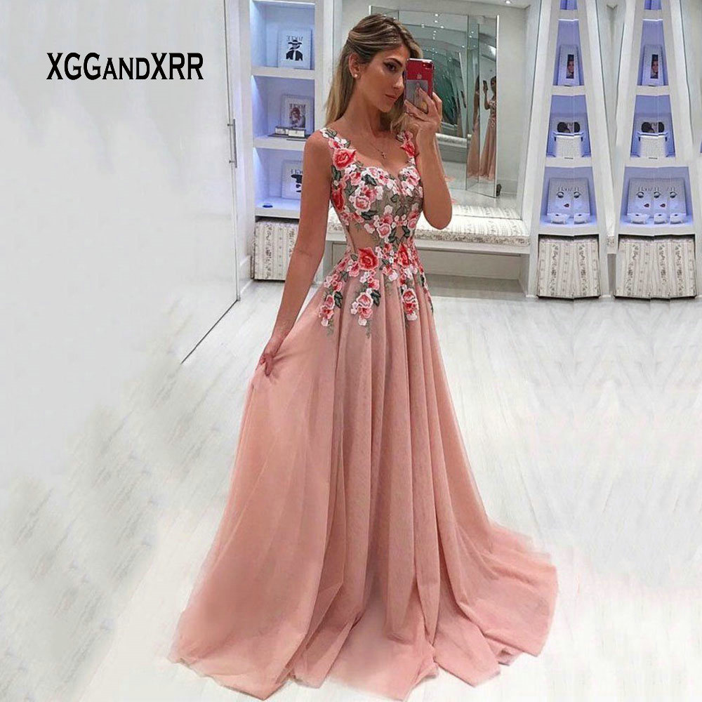 C031201 Elegant   Prom     Dress   2019 Candy Color Backless Beading Sexy Long Evening   Dress   Girls robe de soiree Luxury Plus Size Gowns