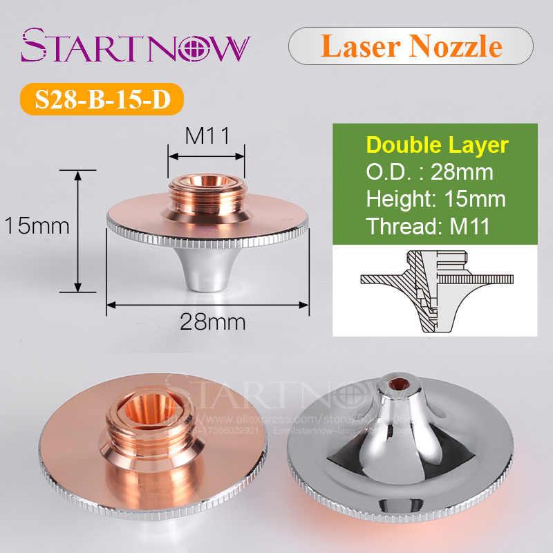 เดี่ยว/คู่ชั้น Dia.28mm H15 Calibre 0.8-5.0 หัวฉีดเลเซอร์สำหรับ HSG WSX Precitec ความเร็วสูงเลเซอร์หัวตัดเครื่อง