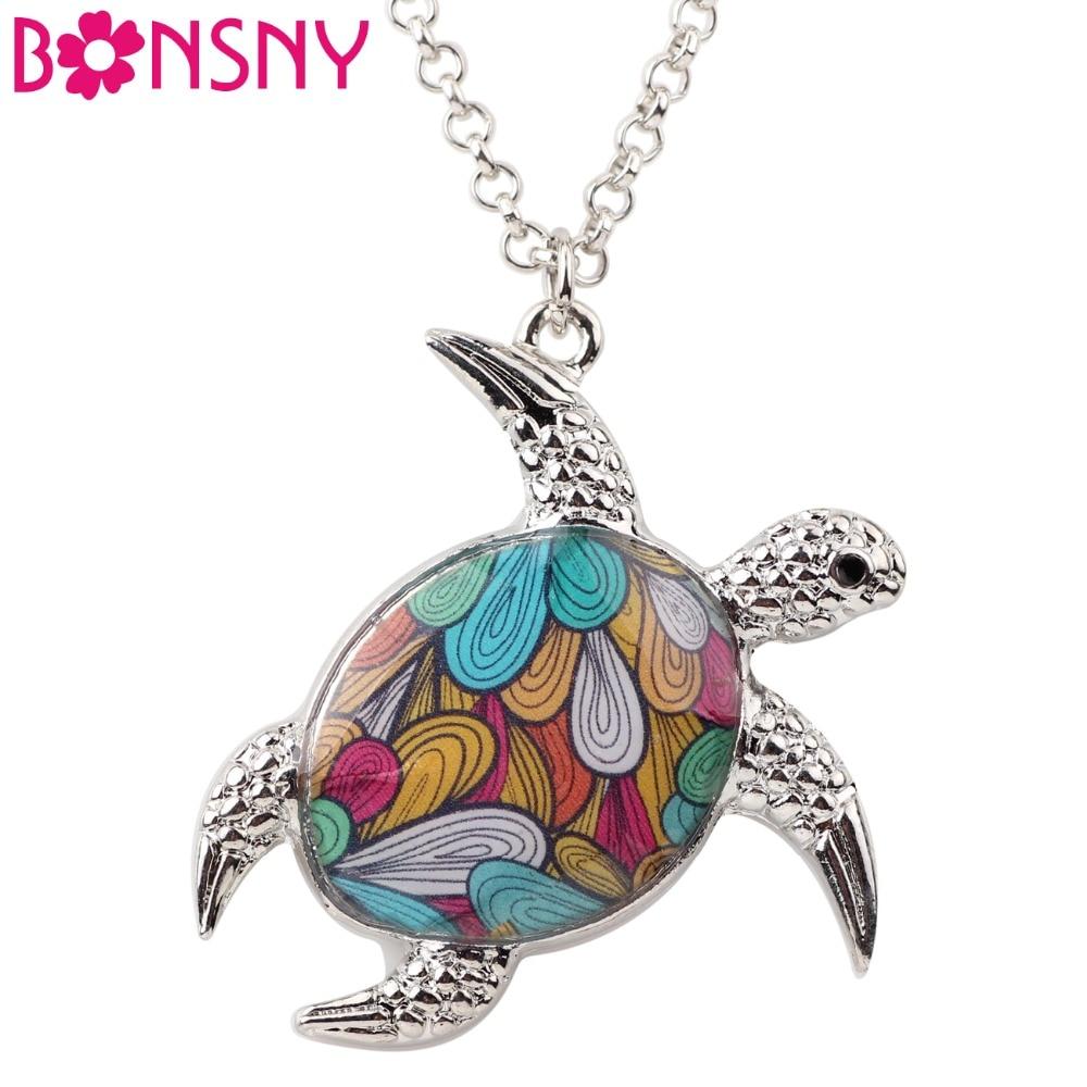 Bonsny αλυσίδα ετικέτα αλυσίδα χελώνες - Κοσμήματα μόδας