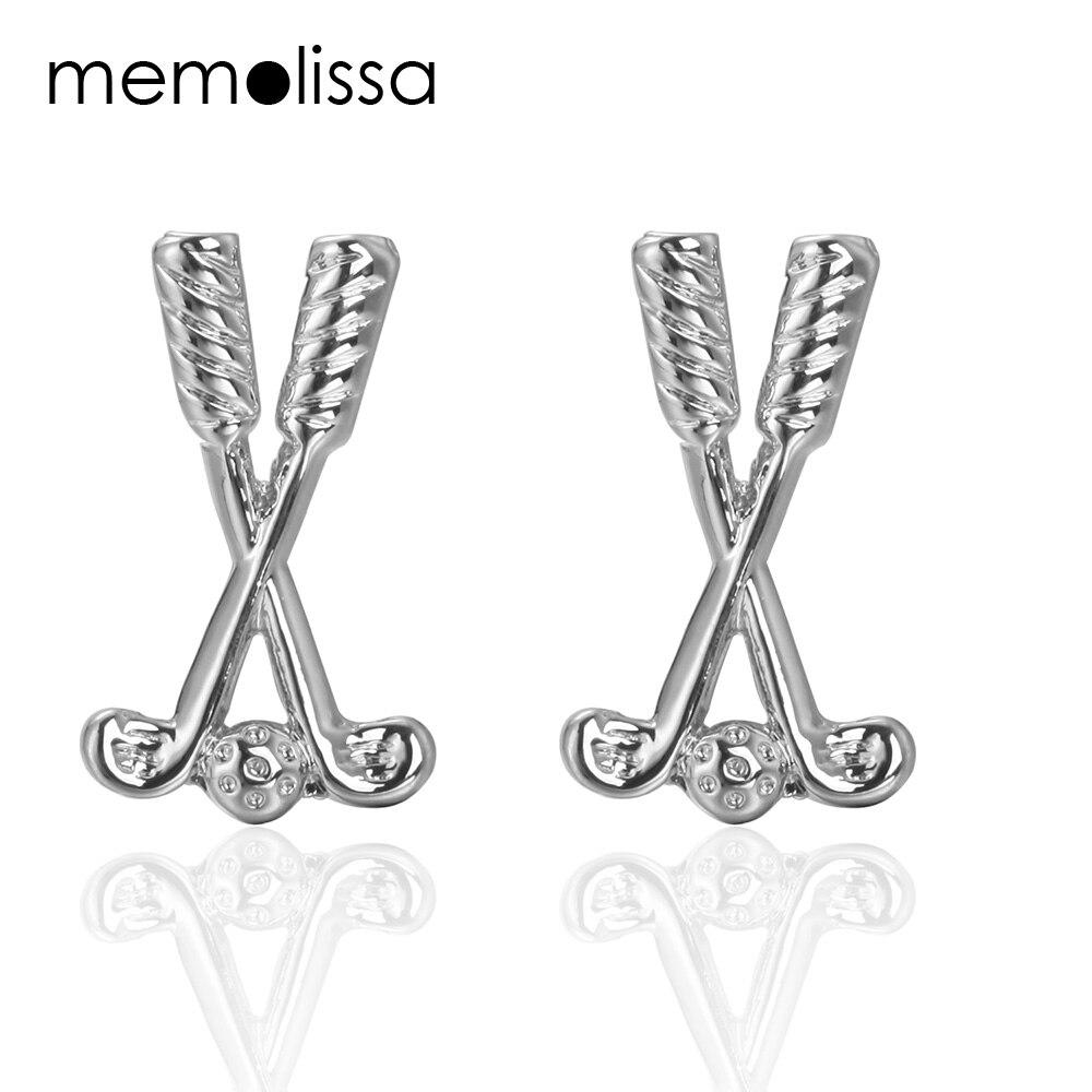 MeMolissa Luxury shirt cufflink Golf racket Cuff Links for mens Brand cuff buttons cuff links High Quality abotoaduras Jewelry
