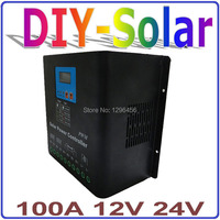 solar system 12V/24V 100A Solar Controller, off grid PV power controller, Dual fan cooling