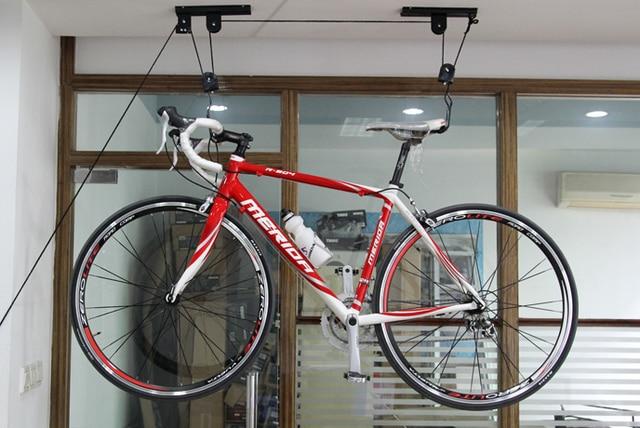 Bicycle Wall Hook Lift Hoist Ceiling Mount Bike Storage Hanger Roof Rack Garage Stand 608