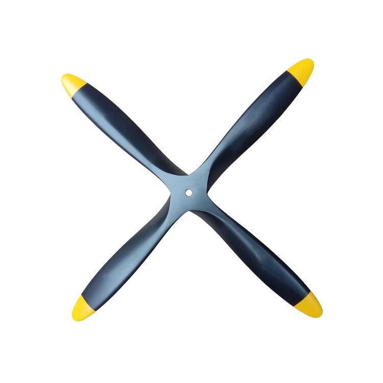 1 шт. 4 лезвия деревянный пропеллер 15*8 для масштаб газа фиксированной крыла самолета RC модель
