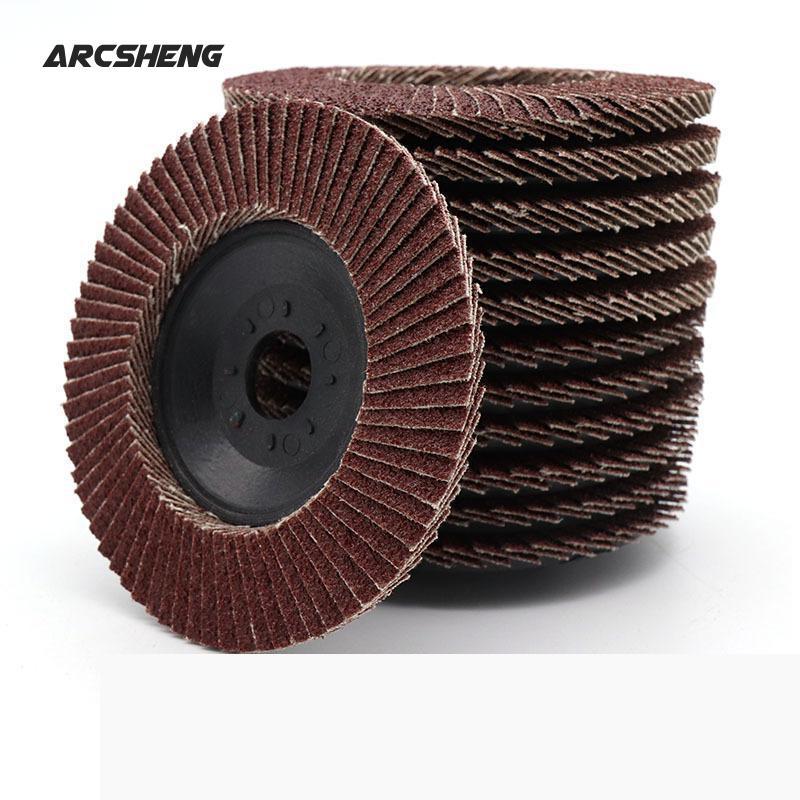 Abrasive 100mm Polishing Grinding Wheel Quick Change Sanding Flap Disc For Grit Angle Grinder 80 Grit 72 Tablets