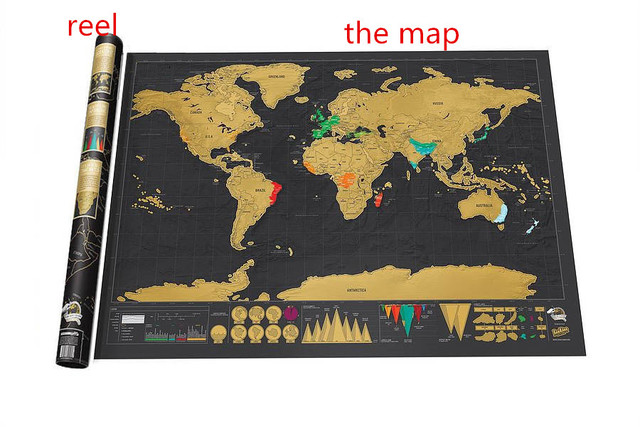 Scratch Map 42 30cm High Quality Scratch Paper Toy Children Learning