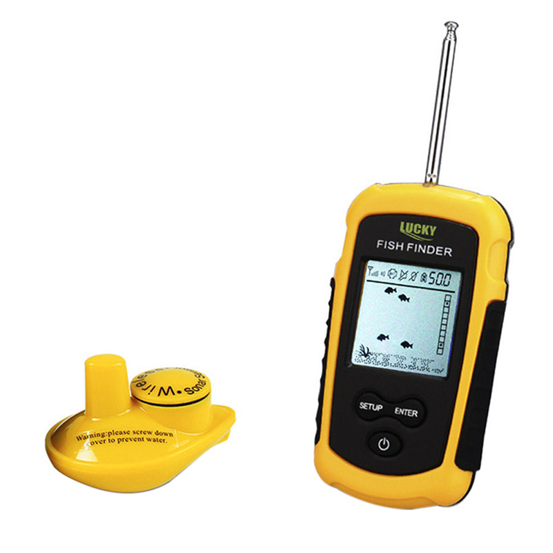 Wireless Fish Finder Sonar Fishfinder 40m Depth Range Ocean Lake Sea Fishing New free shipping zccct cnc solid tungsten carbide industrial drill bits 1534su03c 0520 kdg303 twist drill carbide tipped drill bits