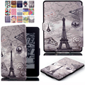 Luxo imprimir capa para amazon kindle paperwhite/paperwhite 3 2 1 Casos de Couro de Alta Qualidade Caso E-Book + Film + Stylus