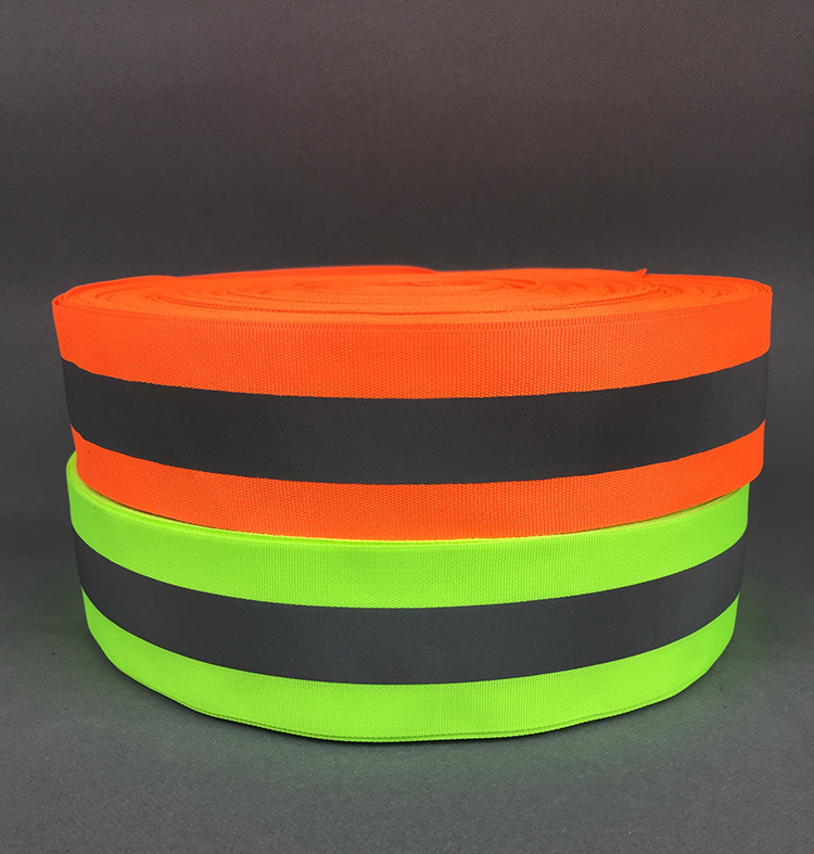 100 Meter,5cm*2cm Width,Fluorescent Reflective Fabric Ribbon Webbing Reflection Strip Edging Braid Sewing On Garment Accessories