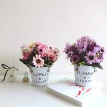 Искусственные герберы, цветы, букет, искусственные герберы, искусственные шелковые цветы для свадебной вечеринки, домашнего декора