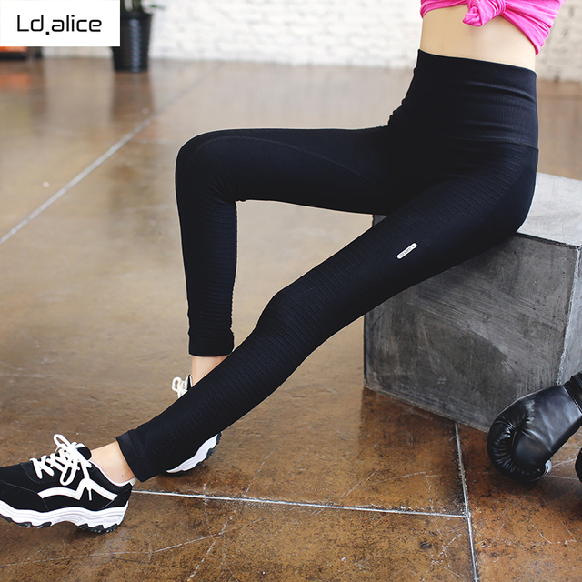 Women High Waist Elastic Yoga Leggings Sexy Pantalon Gym Fitness Yoga Wear Outdoor Running Compression Improve Hip Sports Pants