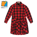 YKYY YAKUYIYI Plaid Girls Dress Long Sleeve Tie Waist Baby Girls Dress  Bow Front Soft Children Dress Girls Clothing