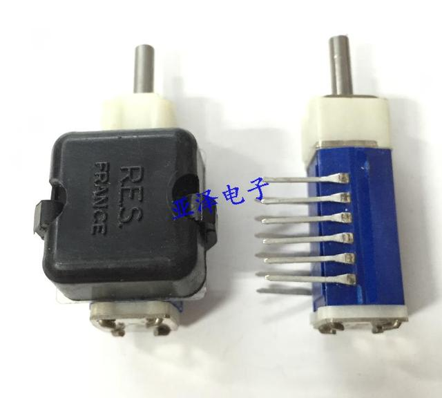 2PCS/LOT France French RES band switch, 6 way, 3 knife, 2 gears, sealed rotary switch, left and right switch, HK23