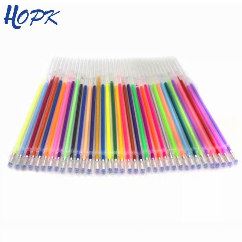 48 Pcs/set 48 Colors Gel Pen Refill Set Multi Colored Painting Gel Ink Pens Refills Rod For School Supplies Stationery