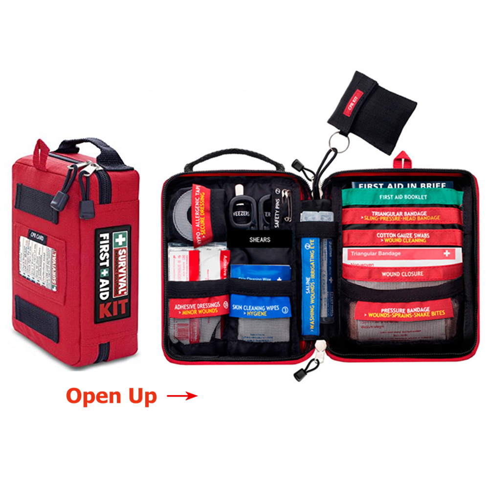 Waterproof Mini Outdoor Travel Car First Aid kit Home Small Medical Box Emergency Survival Kit Household лок lexon цвет mini travel kit мыть мешок косметический фиолетовый lne0102e04t