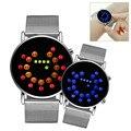 Sports New Roll Ball Analog Display Men Watches LED Watch Silver Alloy Clock Timer Timepiece Men Women Boy Wristwatches