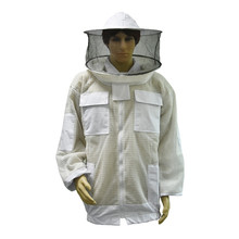 Breathable half body anti-bee clothing (round hat)