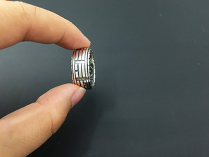 Image 5 - 925 Sterling Silver Retro Thai Silver The Eight Trigrams Ring Men Fashion Personality Rotate Ring
