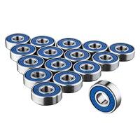 16 x 608rs rolamentos de skate-rolamento de rolos sem fricção abec 9 para placas de skate dropshipping