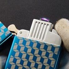 5pcs/lot USB Arc Plasma Lighter Gadgets for Men Isqueiro for Men Smoke Cigarette Tool Encendedor Windproof Lighter with Box