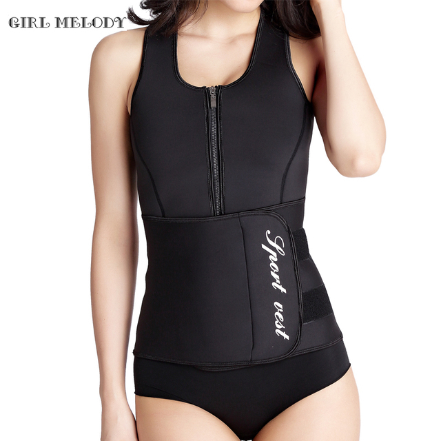 Entrenador corsés entrenamiento de la cintura de neopreno sauna top chaleco cremallera sweat hot body shaper adelgazamiento ajustable caliente blet cintura cincher